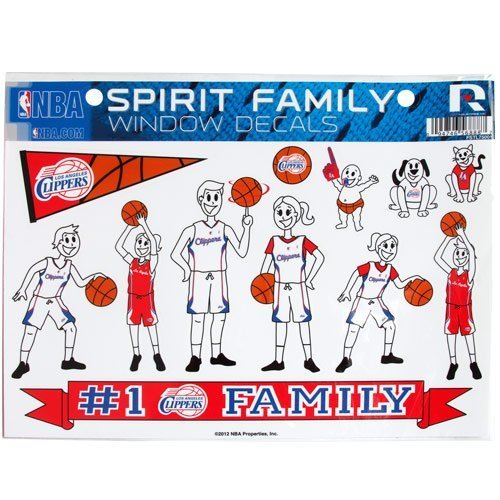 NBA Los Angeles Clippers Family Decals Sheet by Football Fanatics by Football Fanatics