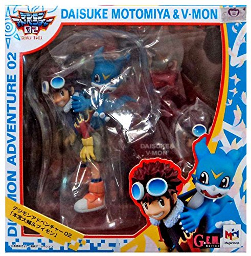 - Megahouse Digimon Adventures 02 Motomiya & V-Mon GEM PVC Figure