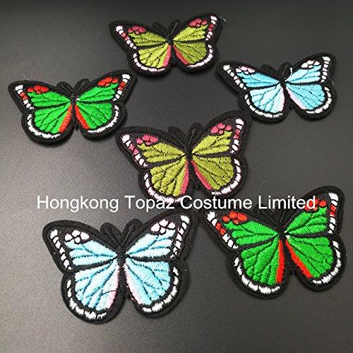 2017 China Popular Hotfix Rhinestone Transfer Design Butterfly Design For Garment (Dark (Dark Topaz Rhinestone)