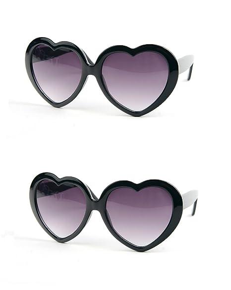 Amazon.com: Forma de Corazón Amor Lolita – Gafas de sol Para ...