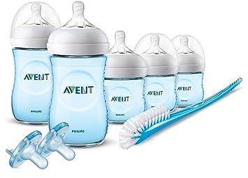 Philips Avent Newborn Baby Bottle Kit Soother Starter Set Bottles Brush