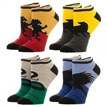 Harry Potter Hogwarts Casa de calcetines tobillo 4 Pack: Amazon.es: Juguetes y juegos