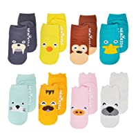 Baby Socks with Grips Toddler Cute Cotton Socks Anti Slip 0-3 Years