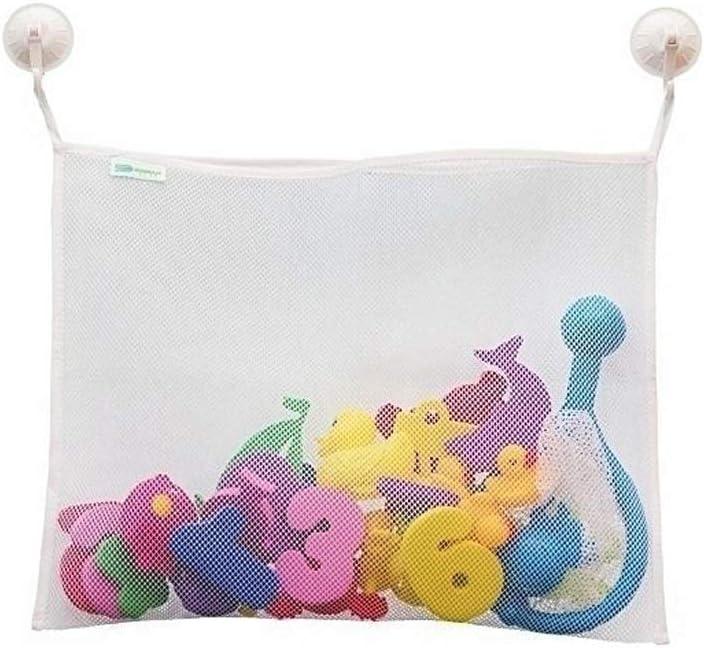 36cm blanc Ogquaton Organisateur avec ventouses b/éb/é temps de bain jouet stockage sac daspiration sac sac de maille organisateur de salle de bain 45 L robuste et rentable