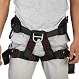 Yosoo Climbing Harness, Adjustable Outdoor Mountaineering Bungee Training Caving Rock Climbing Rappelling Belt Heavy Duty Tree Climbing Protect Waist Safety Harness Protective Gear USA