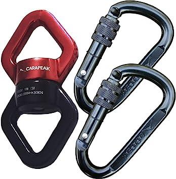 CARAPEAK 30kN - Juego de 2 mosquetones de Seguridad para ...