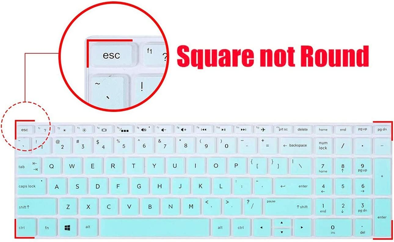 2pcs Lapogy Keyboard Cover for HP Envy x360 2-in-1 15.6Laptop,2020 2019 2018 HP Envy x360 15.6Series //2019 HP 17 17.3//2018 HP Envy 17.317M 17-BS 17-BW Series Touch-Screen Protector,Gradualmint