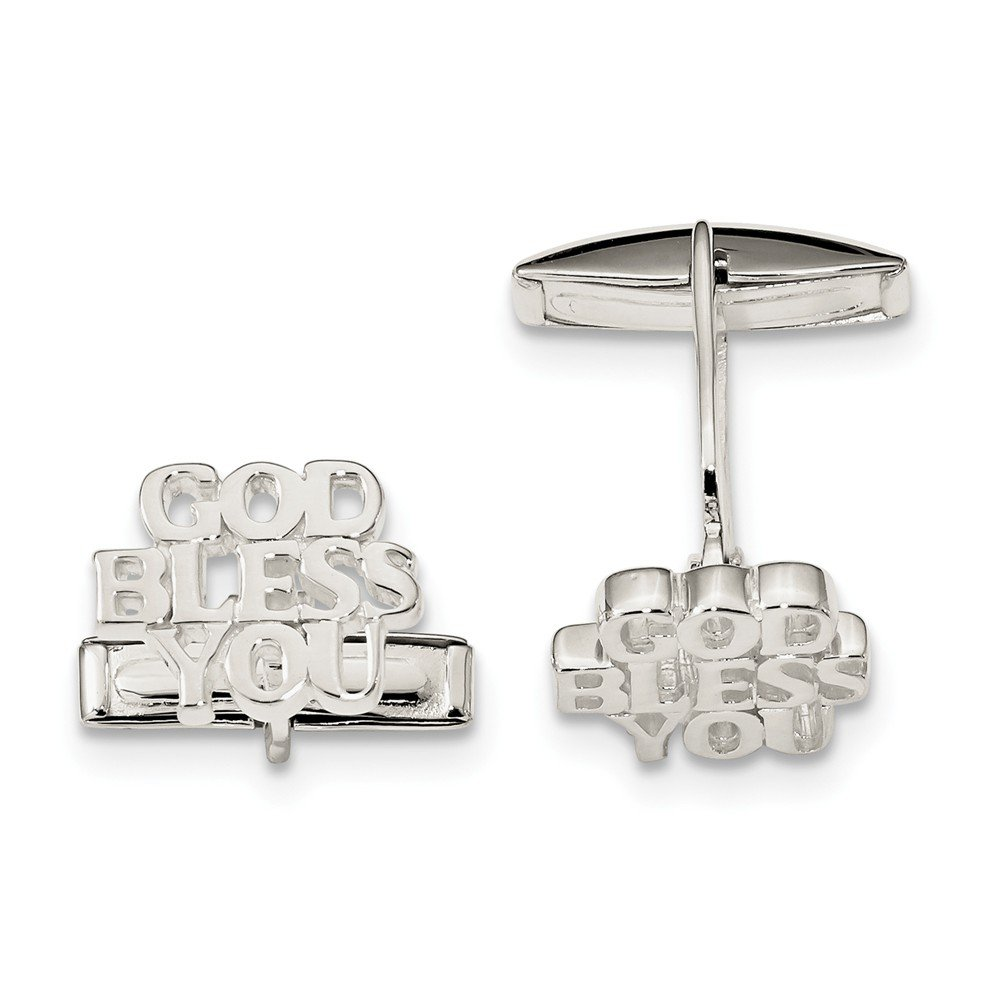 Best Designer Jewelry Sterling Silver God BLESS YOU Cuff Links