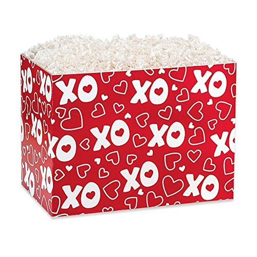 Large XOXO Basket Boxes - 10 1/4 x 6 x 7 1/2in. - 30 Pack by NW