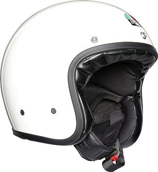 AGV X70 Llanura Blanco Motocicleta Casco