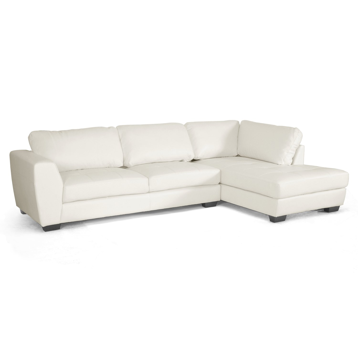 Amazon Com Baxton Studio Orland Leather Modern Sectional Sofa Set