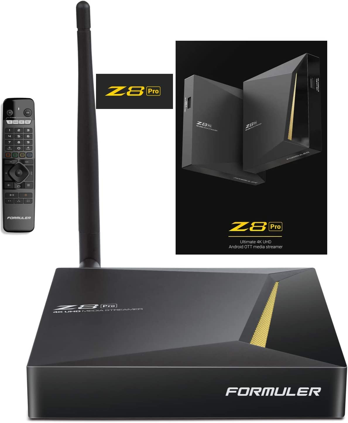 FORMULER Z8 Pro Android Dual Band 5G Gigabit LAN 2GB RAM 16GB ROM 4K Smart Learning Remote with IR