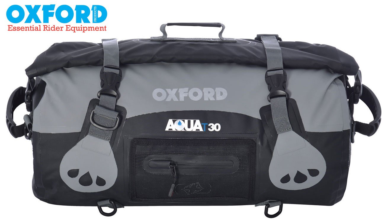OXFORD BRAND NEW AQUA WATERPROOF 30 LITRE DRY LUGGAGE CARRY ROLL TOP BAG FOR MOTORCYCLE MOTORBIKE USE