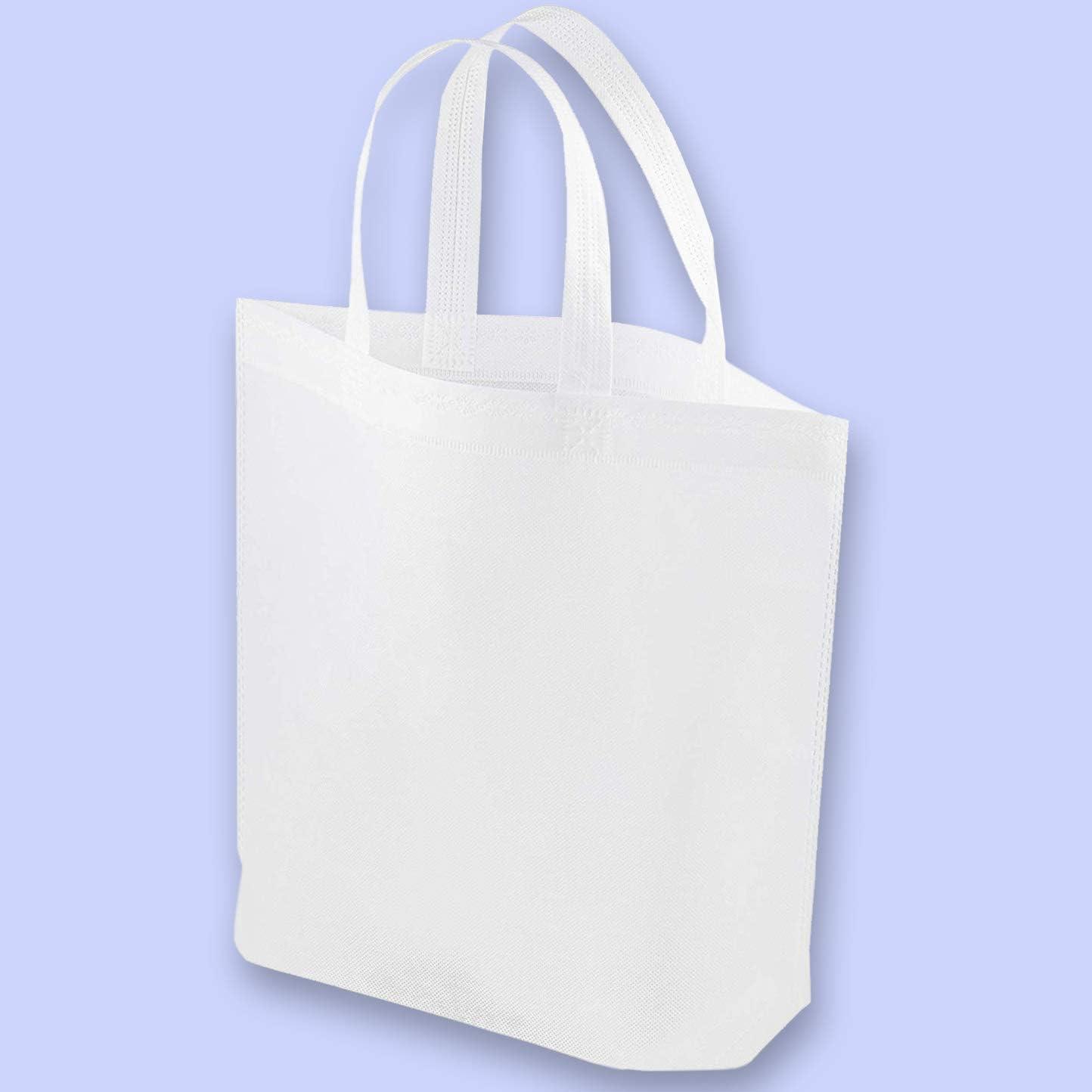 Bolsas blancas para bolso – 20 unidades no tejidas al por mayor, bolso de regalo promocional para conveniencias, bolsas de regalo, bolsas de regalo, bolsas de regalo para fiesta, 14,8 x 12,5