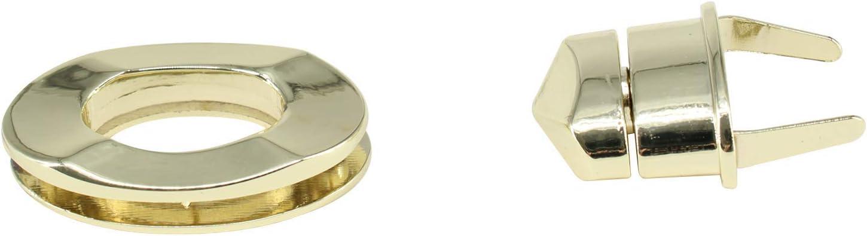 Trimming Shop ovale Form Dreh- und Drehverschluss Silber Verschluss Verschluss f/ür Handtaschen L x 21mm x 37mm Clutches Geldb/örse Taschen DIY-Projekte bronze