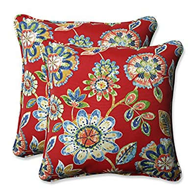 Pillow Perfect Outdoor/Indoor Daelyn Cherry 18.5-Inch Throw Pillow (Set of 2) - Includes two (2) outdoor pillows, resists weather and fading in sunlight; suitable for indoor and outdoor use Plush fill - 100-percent polyester fiber filling Edges of outdoor pillows are trimmed with matching fabric and cord to sit perfectly on your outdoor patio furniture - patio, outdoor-throw-pillows, outdoor-decor - 61bASRxaEXL. SS400  -