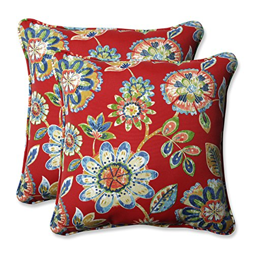 Pillow Perfect Outdoor/Indoor Daelyn Cherry 18.5-inch Throw Pillow (Set of 2)