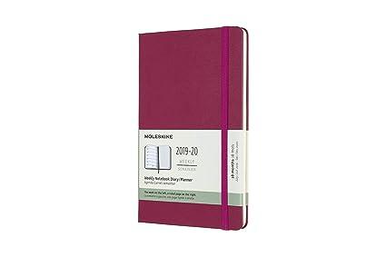 Moleskine 2019-20 Weekly - Agenda Cuaderno Semanal de 18 Meses 2019/2020, Rosa, Tamaño Grande 13 x 21 cm, 208 Páginas