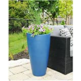 Large Planter Pot Outdoor Flower Box Garden or Outdoor Decor Area Indoor Durable Patio Planter Tall Beautiful Modern Deep Round Double Wall & eBook by BADA shop