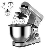 MURENKING MK37C Cuisine Robot Patissier 1000W 5L Bol Mélangeur Inox 6 Vitesses Inclinable Tête Avec Accessoires
