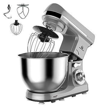 Amazon.de: MURENKING MK37C Küchenmaschine (1000W, 5 Liter edelstahl ...