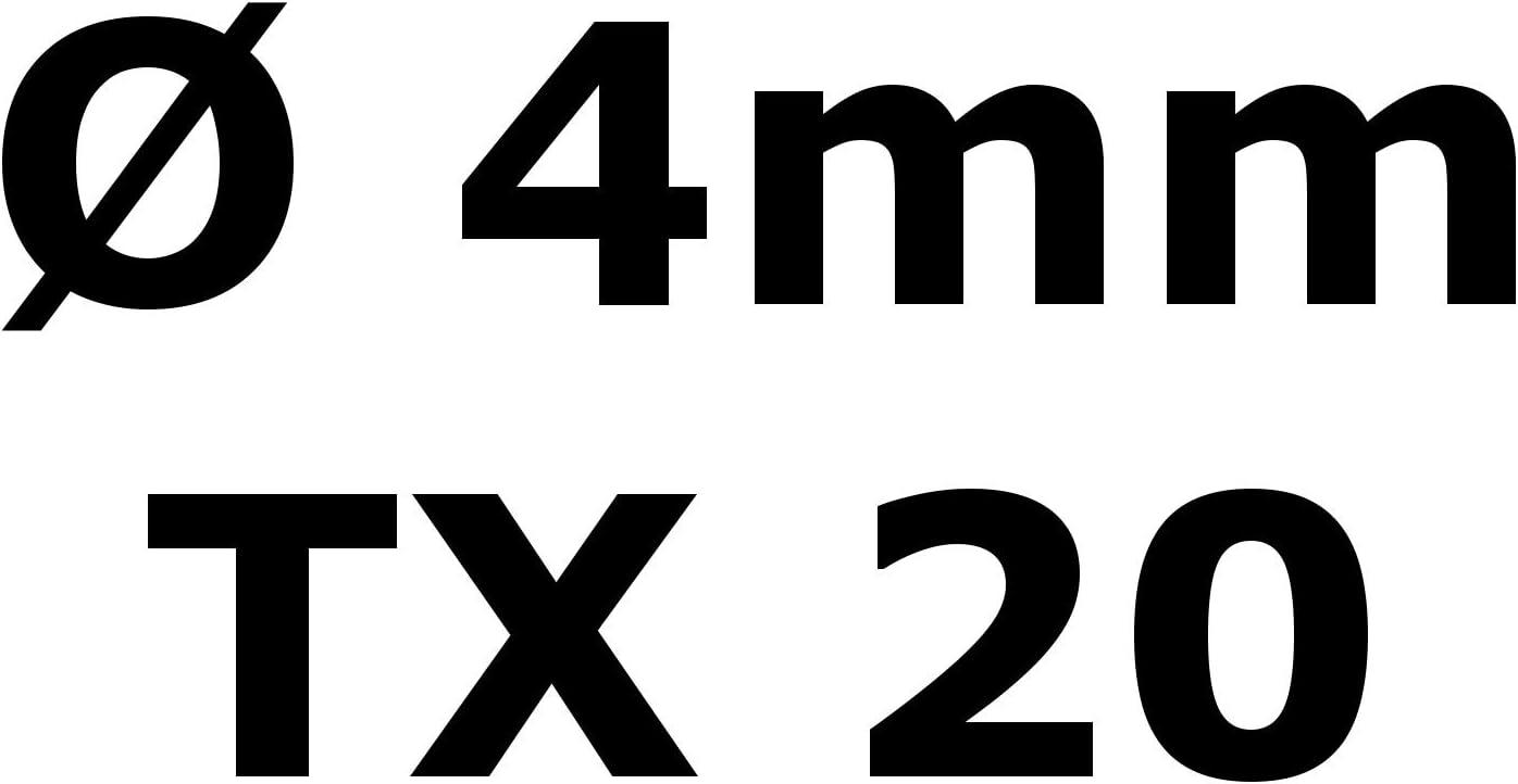 Edelstahl TORX Senkkopf-Schraube aus V2A 4-mm stark 60-mm Schrauben-L/änge 800 St/ück 36-mm Teil-Gewinde Holz-Schraube 4x60
