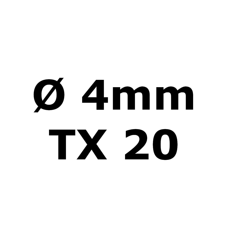 Multicolor muchos n/úmeros de piezas todos los longitudes de tornillo Tornillo de cabeza avellanada Torx de acero inoxidable V2A