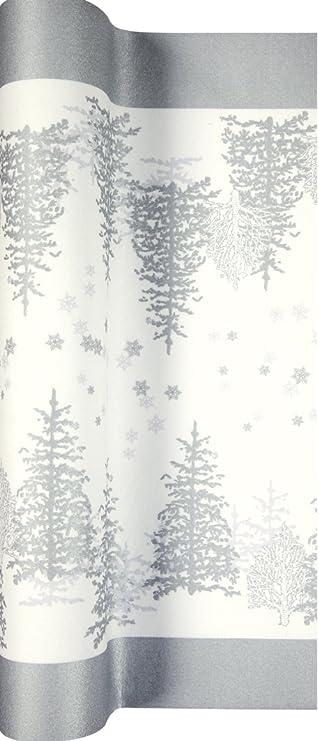 Camino de mesa papel Tree and copo de nieve - los árboles y copos ...