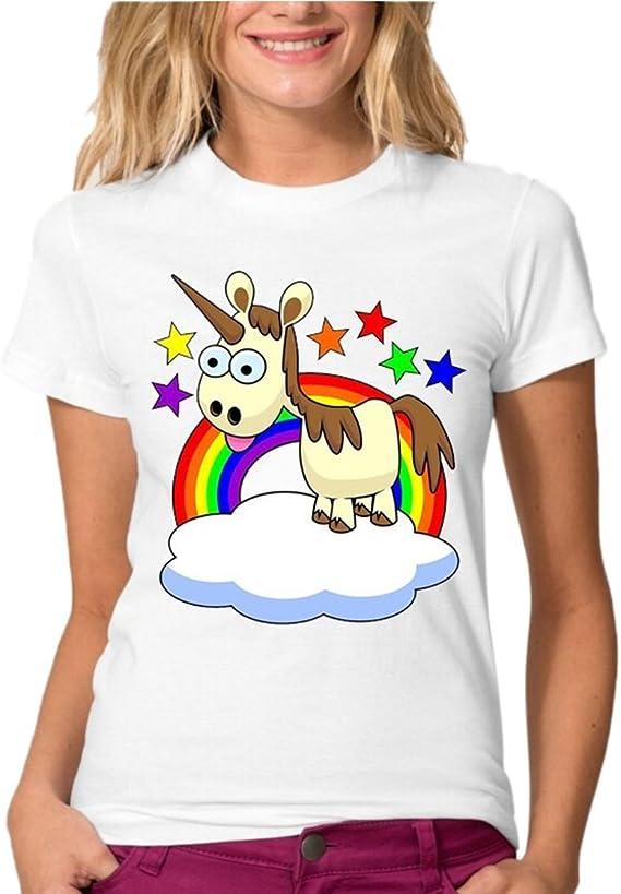 Sweat Manche Courte Femme Swag Mode T Shirt Licorne Dab Ado