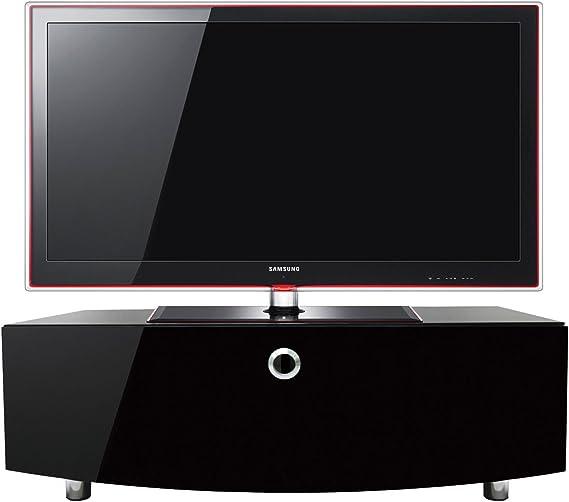 MDA Designs Curve 1000 Remote Friendly Salida cable Cristal Brillante Negro LCD/Plasma/LED TV Mesa para la Televisión: Amazon.es: Electrónica