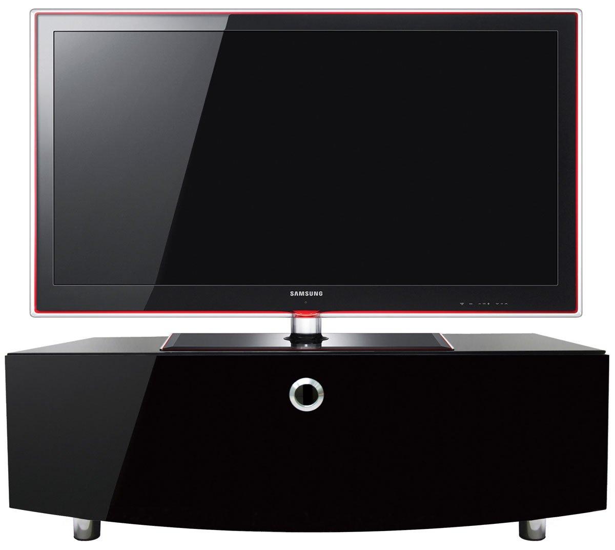MDA Designs Curve 1000 Meuble TV pour Écrans LCD-plasma-LED Noir laquÉ