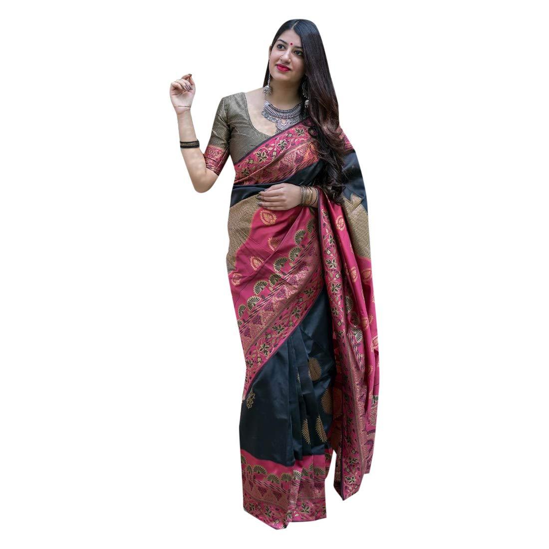 Silk Saree Collection With Blouse Piece Light Weight Sari Collection 7392