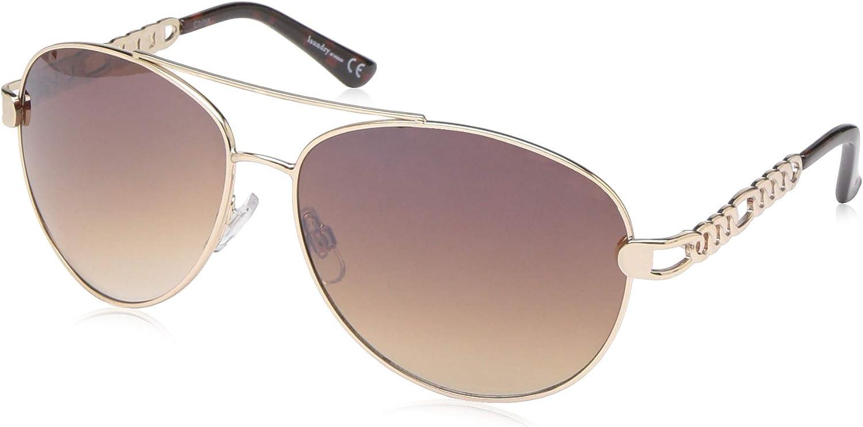 Laundry by Design Women's LD281 Aviator Sunglasses, 65 mm
