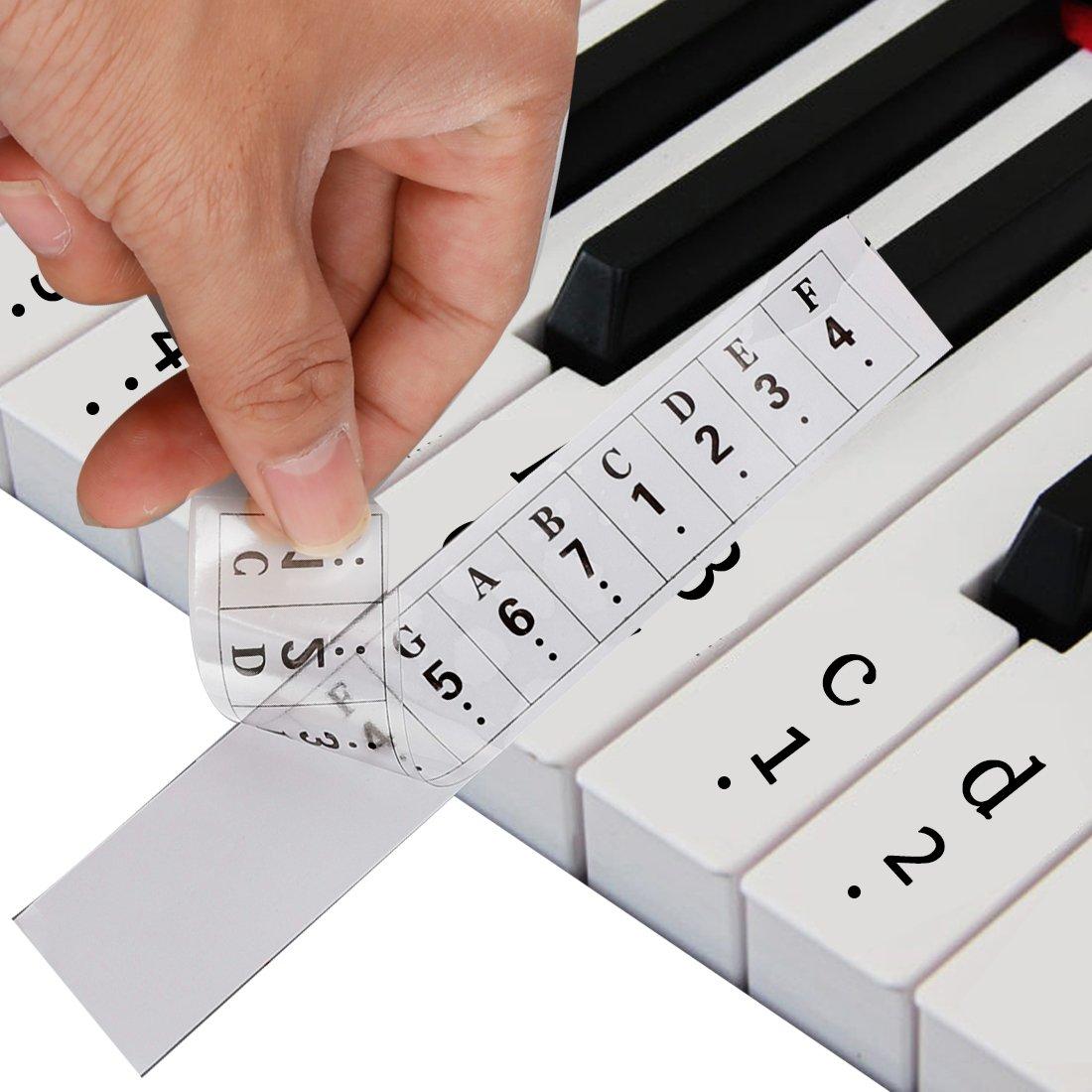 多様な A-SZCXTOPピアノキーボードステッカー 88鍵透明な鍵盤 、音符ステッカー 耐磨损B06Y67R933, カスカワスポーツ:5addeb12 --- rsctarapur.com