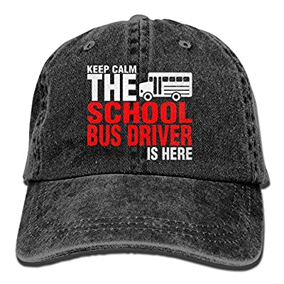 School Bus Driver is Here Denim Hat Adjustable Mens Mini Baseball Cap
