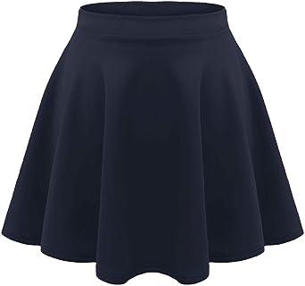 Falda corta para niños y niñas de alta cintura, con volantes, lisa ...