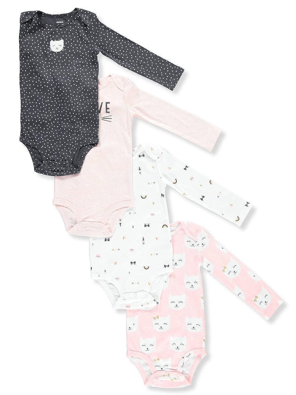 Carter's SHIRT ベビーガールズ 3 Months Charcoal Gray/Pink Multi B07DGS2R7B