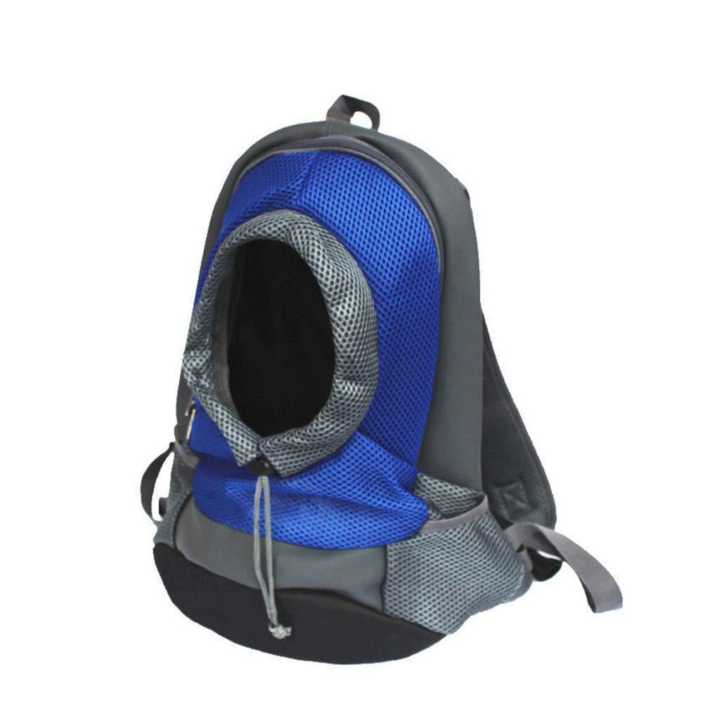 bluee L bluee L Dog cat Pet Nest, Dog Backpack, Chest Bag, Dog Out, Portable Travel Dog Bag, Pet Supplies (color   bluee, Size   L)