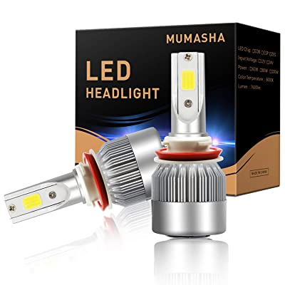 LED Headlight Bulbs Headlight bulb H11 H9 H8 All-in-One Conversion Kit Led headlights H11 with COB Chips 8000 Lm 6500K Cool White Beam Bulbs IP68 Waterproof: Automotive