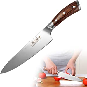 Chef Knife,Best Quality 8 Inch Professional Kitchen Knives Japanese 7Cr13 Stainless Steel Knife with Pakkawood Handles,Sharpest Cooking Knives ,Top Rated Home Kitchen and Restaurant Knives