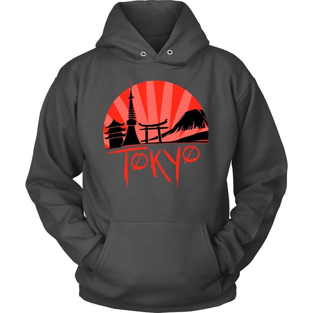 Sunny Love Japan hoodie Skyline of Japan Tokyo Japanese Sunset Hoodie