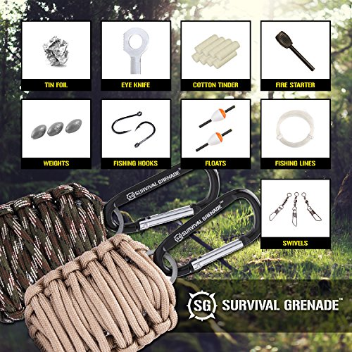 Survival-Kit-Survival-GRENADE-Emergency-Key-Chain-Survival-Kit-Paracord-Grenade-Survival-Kit-with-8-Tools-Fire-Starter-Eye-Knife-Black