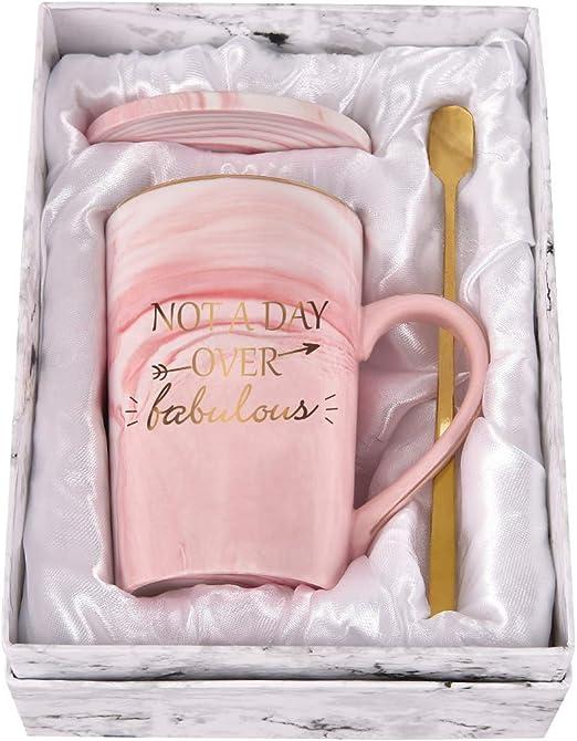 Personalised name mug coaster A-C fabulous fun gift for her mum sister friend