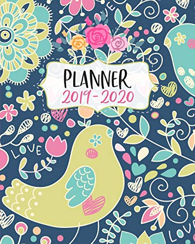 Planner 2019-2020: 18 Month Academic Planner. Monthly and Weekly Calendars, Daily Schedule, Important Dates, Mood Tracker, Goals and Thoughts all in One!