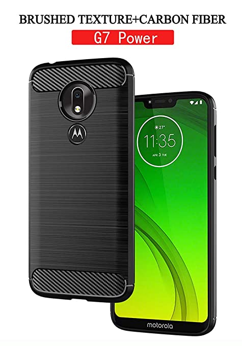 Moto G7 Power Case, Motorola G7 Power Case, Thinkart Frosted Shield Luxury Slim Design for Motorola Moto G7 Power (Black)