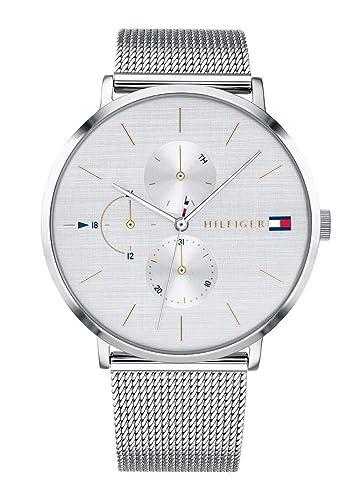 Tommy Hilfiger Reloj Multiesfera para Mujer de Cuarzo con Correa en Acero Inoxidable 1781942: Amazon.es: Relojes