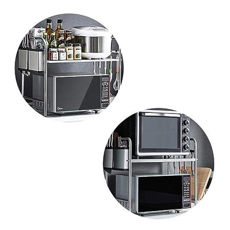 Rack de microondas Cocina Estante de almacenamiento de acero ...
