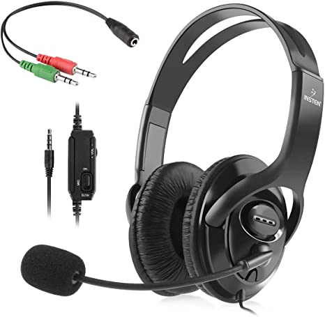 Insten auricular para juegos con micrófono compatible con Nintendo ...