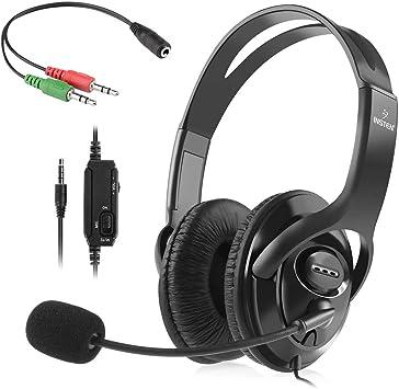 Insten auricular para juegos con micrófono compatible con Nintendo Switch / Lite Fortnite en Juego Juego de