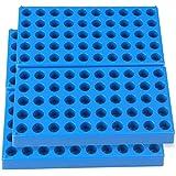 4 Packs Vial Rack Single Blue Vial Holders for 50 Standard 12 mm 2ml Vials Centrifuge Tube Rack